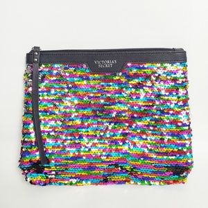 Victoria's Secret Reversible Sequin Cosmetic Bag